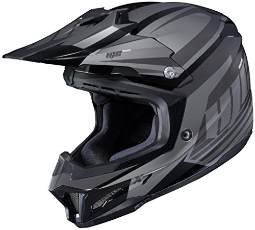 5 Off Road Helmet (HJC XF-10-0864-2505-11 CL-X7 Bator Helmet, Distinct Name: MC-5, Gender: Mens/Unisex, Primary Color: Black, Size: 5XL, Helmet Type: Offroad Helmets, Helmet Category: Offroad)