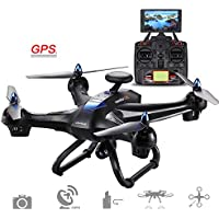Cewaal X183 Drone with 1080P Camera Live video and GPS Return Home,Stunt Rolling,GPS Voyage Function,GPS Automatically Follow,Anti-jamming Motors Drone with Headless Mode for Kids
