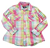 Saks Fifth Avenue Gray Women's Plaid Button Down Shirt, Blue/Pink/White, Medium offers
