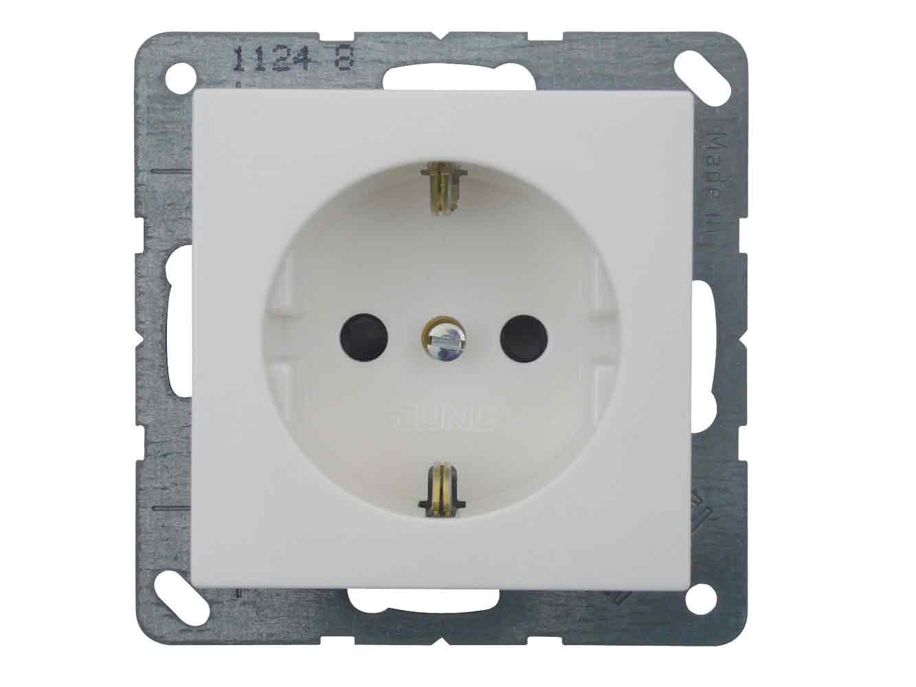 REV Ritter 0373020112AS500Socket with Child Protection, White