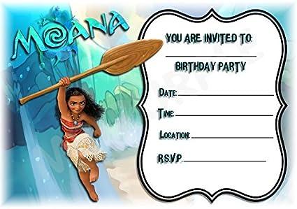 Tarjetas de invitación de Moana de Disney para cumpleaños ...