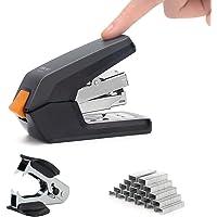 Deli Effortless Desktop Mini Stapler, One Finger Touch Stapling, Easy to Load Ergonomic Stapler, 20 Sheet Capacity…
