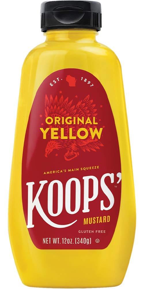 Koops Mustard Original Yellow, 12 Ounce (Pack of 12) by Koops (Image #1)
