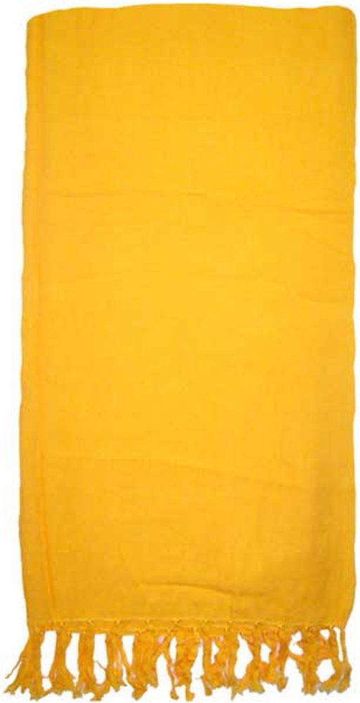 Gold Solid Color Extra Long Sarong