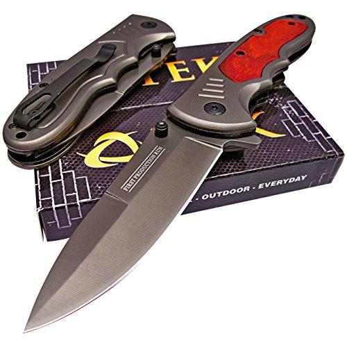 TEK Tactical Edge Knives: Spring Assisted Opening - Titanuim