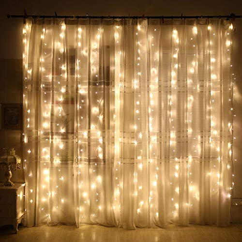 Halloween Hot Sale!!!Kacowpper 300 Led Curtain Lights Party Wedding Fairy Indoor Outdoor Christmas Garden -