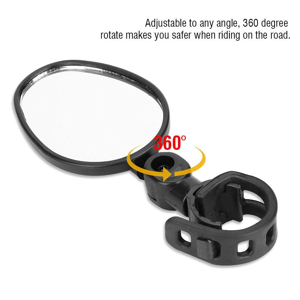 VGEBY1 Bicycle Rearview Mirror Durable 360 Degree Rotate Bike Handlebar Safety Mirror for Mountain /& Road Bikes Cycling Mirror Accessory