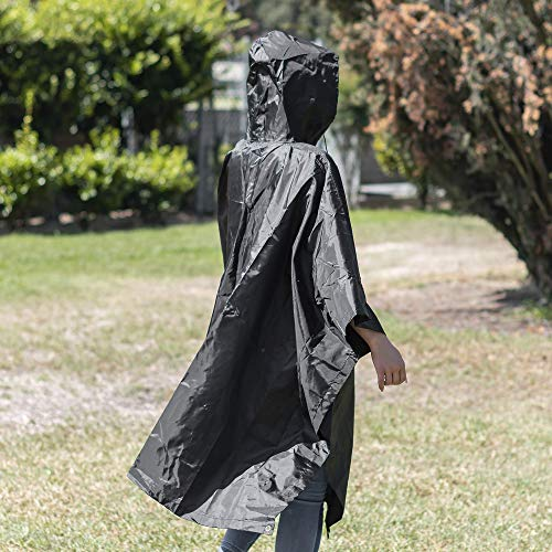 SUNGJAM Rain Poncho with Travel Pouch | Two Over Door Metal Hooks for Drying by SUNGJAM (Image #4)
