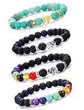 LYLYMIMI Elephant Chakra Bead Diffuser Bracelet Aromatherapy Yoga Stress Relief Bracelets (Colored)