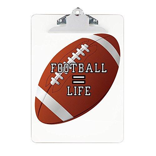 Clipboard Football Equals Life