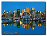 Vancouver Skyline British Columbia, Canada Wall Decor Art Print Poster (18x24)