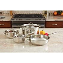 B & F System KT7 Ever Clad 7 Piece Heavy Duty Stainless Steel Cookware Set