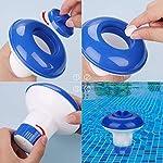 ZOCIPRO-Dispenser-Chimico-per-Piscina-Cloro-Galleggiante-Dispenser-di-Cloro-Galleggiante-per-Piscina-Dosatore-Galleggiante-di-Cloro-di-Colore-Blu-e-Bianco-Erogatore-di-Cloro-Fungo-per-Piscina