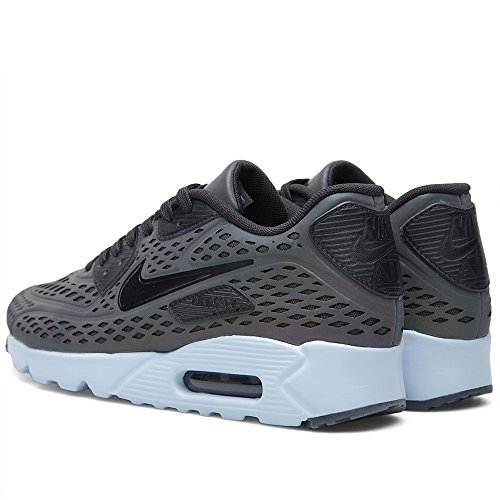 Nike Air Max 90 Ultra Moire Qs, Zapatillas De Running para Hombre Gris / Blanco / Negro (Deep Pewter / Black-Porpoise)