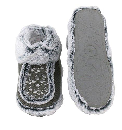 brandsseller - Zapatillas de estar por casa de Material Sintético para mujer Gris - antracita