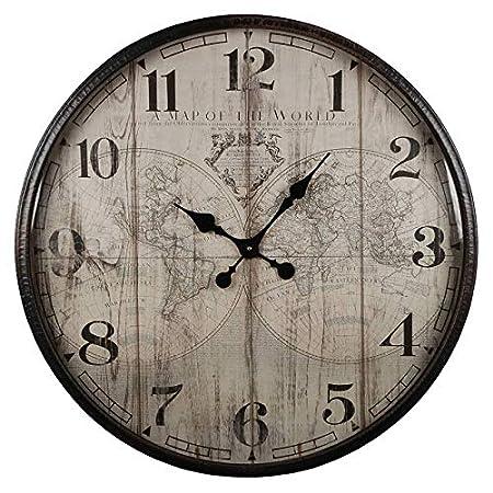 Lhéritier Du Temps Horloge Murale Vintage Géante Style