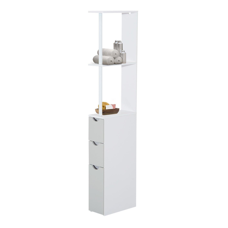HOMCOM Bathroom Cabinet Tall Shelf Toilet Tissue Cupboard w/Drawers Sold By MHSTAR