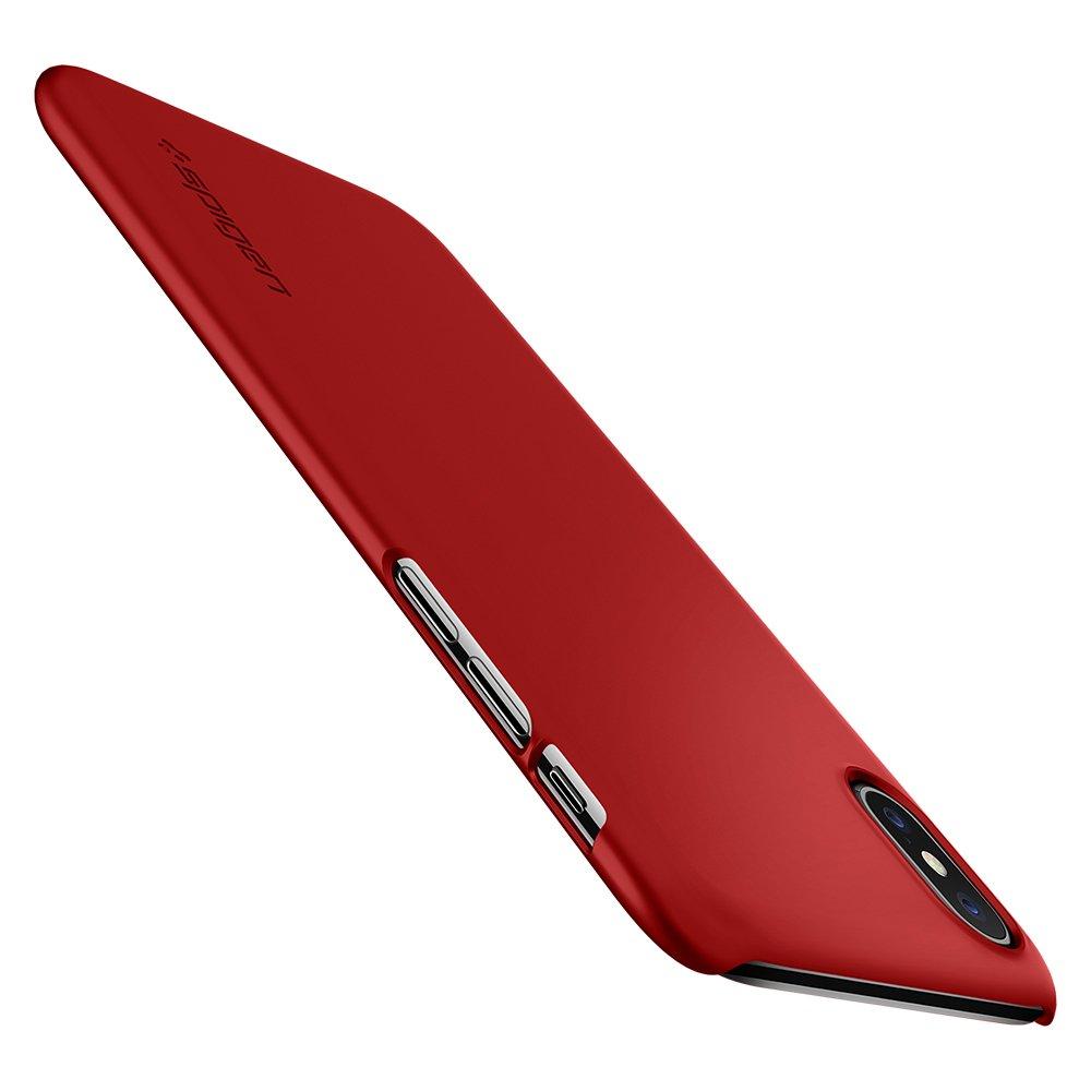 Funda Spigen iPhone X/xs [metallic Red] Thin Fit