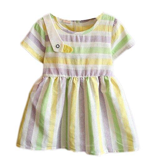 Yayu Little Girl Fashion Rainbow Slim Fit A-Line Mini Dress 2 2T by Yayun