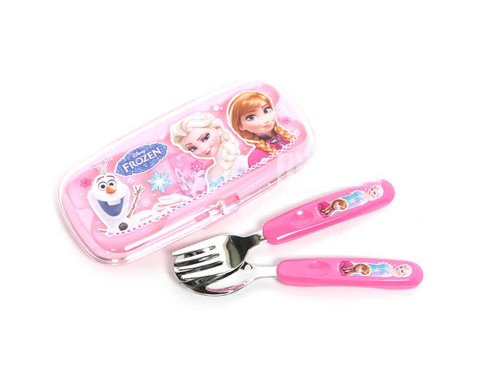 Disney Frozen Children Kid Spoon Fork Set with Case 042493