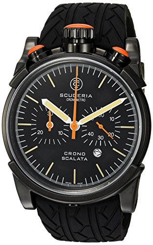 CT-Scuderia-Mens-Red-Zone-Swiss-Quartz-Stainless-Steel-and-Rubber-Casual-Watch-ColorBlack-Model-CS10151