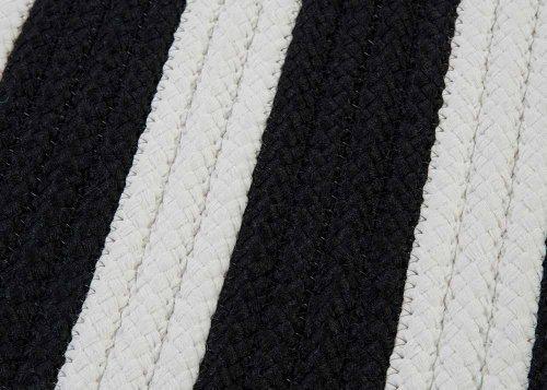 Black Amp White Striped Braided Rug 2ft X 3ft Soft