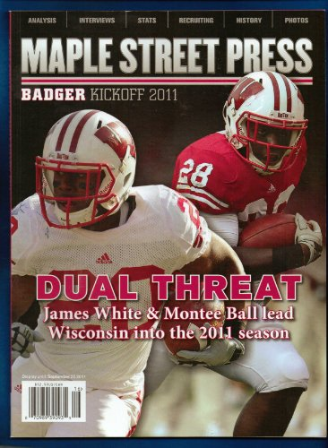 - WISCONSIN BADGERS 2011 ANNUAL FOOTBALL MAPLE STREET PRESS BALL WHITE
