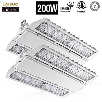 LAISUO Lighting LED High Bay Shop Light 200W Fixture (800W Equivalent), Industrial Workshop Lights 26000LM, 5000K Daylight, Warehouse Area Lights, ETL Certified, IP65 Waterproof, 2 Pack