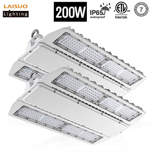(LAISUO Lighting LED High Bay Shop Light 200W Fixture [800W Equivalent], High Bay LED Light Warehouse Lights Industrial Area Lights, 26000LM, 5000K, IP65 Waterproof, ETL Certified, 2 Pack)