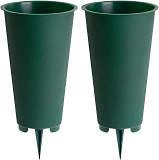 product image for Large Round Cemetery Vase, 2-Pack