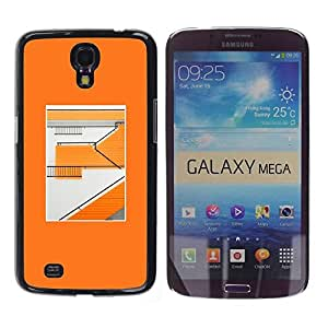 Be Good Phone Accessory // Dura Cáscara cubierta Protectora Caso Carcasa Funda de Protección para Samsung Galaxy Mega 6.3 I9200 SGH-i527 // Orange Building Abstract Minimalist Patter