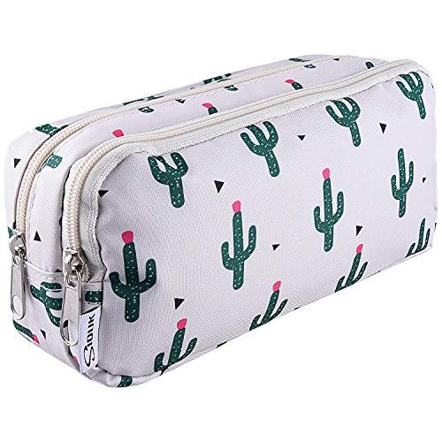 SIQUK Cactus Pencil Case Large Capacity Pen Case Double...