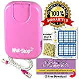 Wet Stop 3 Bedwetting Alarm (PINK) 6 Alarms & Vibration, Enuresis Alarm, Incontinence, Potty Training, 100% SATISFACTION GUARANTEED