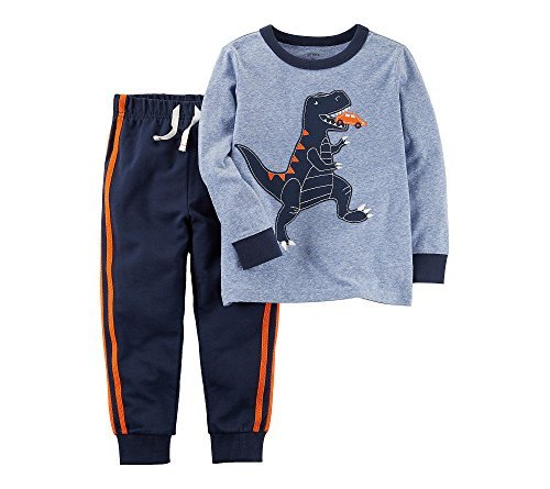Carter's Baby Boys' 2 Piece Dinosaur Graphic Tee & Jogger Set 24 Months (2 Piece Set Carters Outfit)