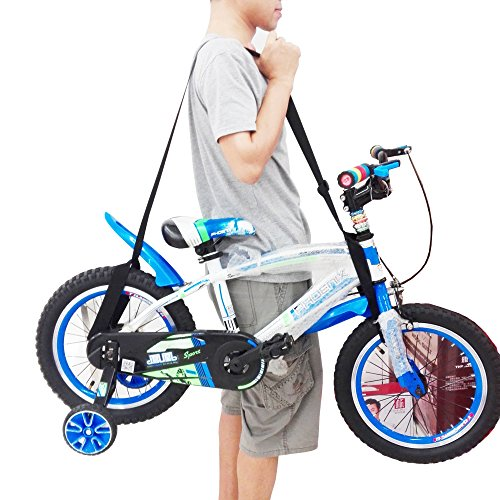 One Weight lifting Shoulder Carrying Strap for Kids Balance Bike, Scooter , Foldable Bicycle - No further damage to your back! (Bag Carry Scooter)
