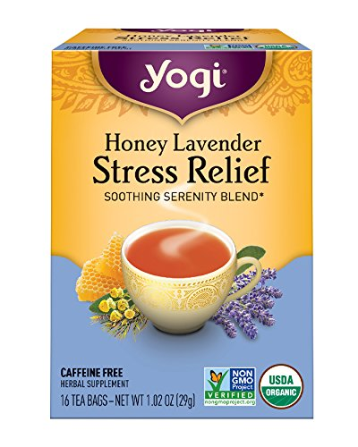 Yogi Tea - Honey Lavender Stress Relief - Soothing Serenity Blend - 6 Pack, 96 Tea Bags Total by Yogi Teas