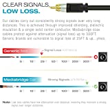 Mediabridge ULTRA Series Subwoofer Cable (4 Feet) - Dual Shielded with Gold Plated RCA to RCA Connectors - Black