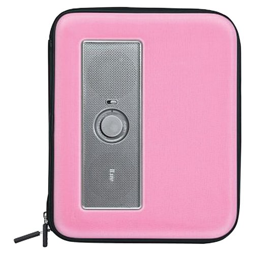 ILUV ISP210PNK IPAD(R)/TABLET PORTABLE AMPLIFIED STEREO SPEAKER CASE (PINK)