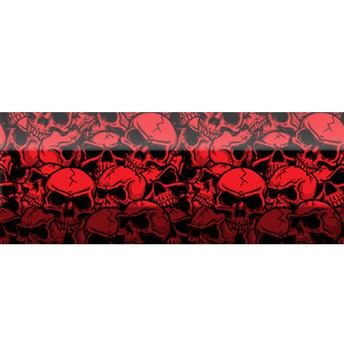 Red Skulls - Lacrosse Stick Shaft Decal Wrap Graphic