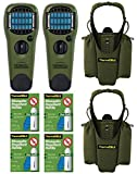 Thermacell Double Camper's Kit : 2 Mosquito Repellent Appliances (Olive), 2 Holsters, 4 Refills