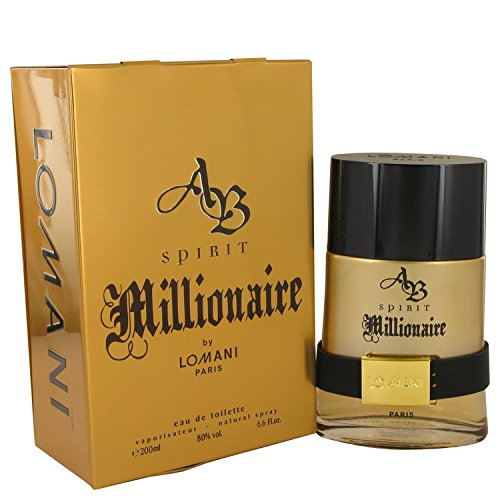 LOMANI AB Spirit Millionaire Cologne for Men 6.6oz/200ml Eau de Toilette Spray, - Ab Spirit Perfume