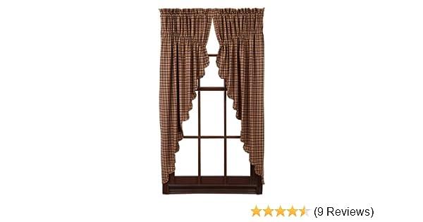 Amazon Nancys Nook Prescott Prairie Curtain Scalloped Lined Set Of 2 36x63x18 Kitchen Dining