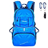 Gkeeny 35L Backpack, Lightweight Rucksack Foldable Hiking Daypack Packable Travel Day Backpack Bag for Unisex and Kids Camping Traveling Walking Cycling Climbing Jogging Day Trips (Blue)