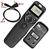 PIXEL Shutter Suitable Wireless Shutter Release Remote Control for Canon Rebel XT XTi XS XSi T1i T2i T3 EOS 1300D 1100D 1000D 650D Camera and Pentax K-500 K100D K20D and Samsung GX-1L
