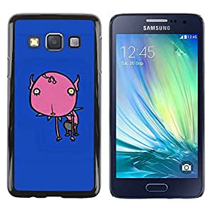 Paccase / SLIM PC / Aliminium Casa Carcasa Funda Case Cover para - Flower Graffiti Blue Skate Monster - Samsung Galaxy A3 SM-A300