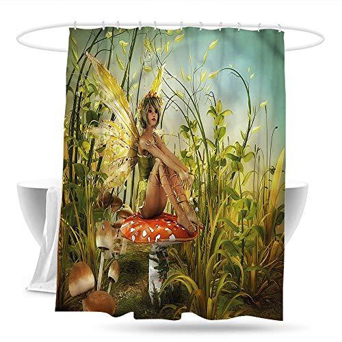 (Fabric Shower Curtain Kids Little Fairy Elf Wings Magic Shower Curtains in Bath)