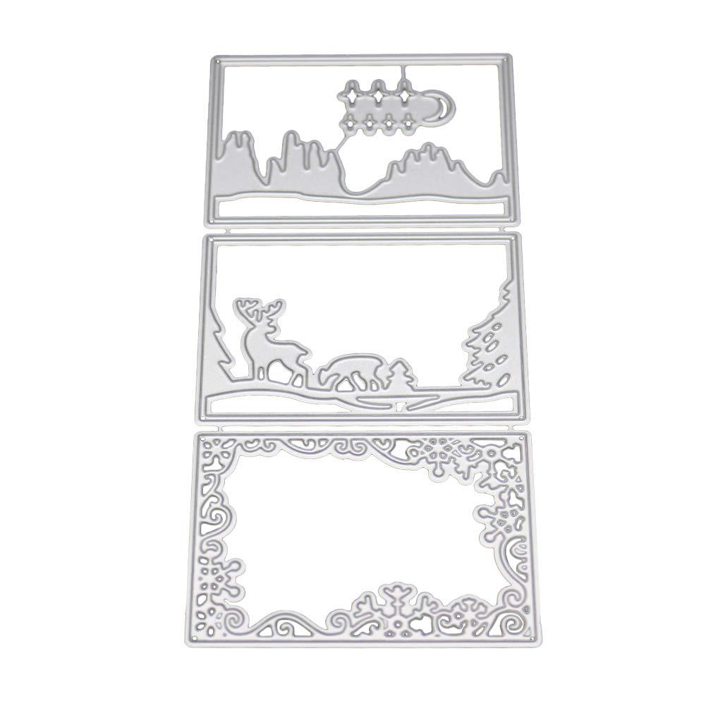 Scrapbooking Shangwelluk Troqueles de Corte Ciervos de Cart/ón DIY Juego de Troqueles Pad Replacements para M/áquina Troqueladora y Estampadora Die-Planta