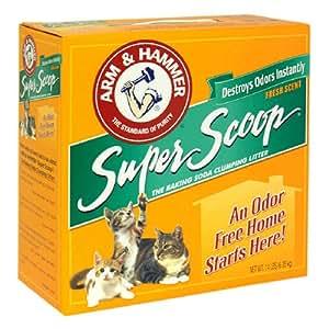 Arm & Hammer Baking Soda Clumping Litter, Fresh Scent, 14 lbs (6.35 kg)