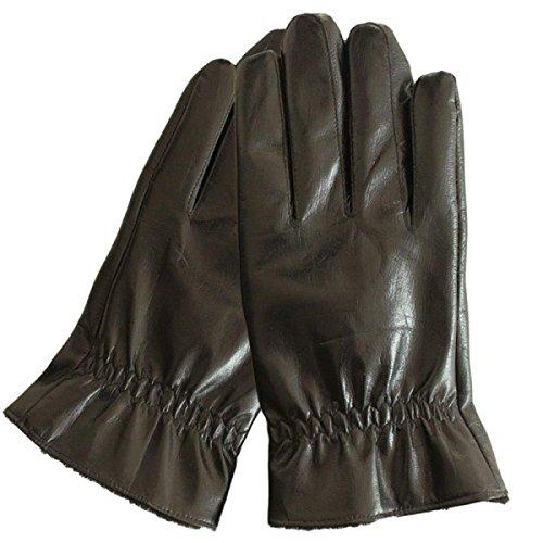 CWJ Men's Gloves Thick Drive Car Ride Warm,Black,One Size by CWJ (Image #6)