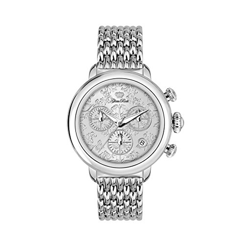 Glam Rock Women's Bal Harbour 40mm Steel Bracelet & Case Swiss Quartz Silver-Tone Dial Watch GR77104N